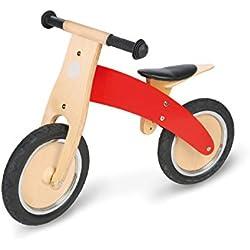 Pinolino 239449 - Bicicleta de madera para niños, color rojo [Importado de Alemania]