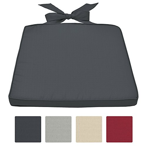 Beautissu Stuhlkissen Pia Sitzkissen für Rattan Stühle & mehr Stuhlauflage 45x40x5cm abnehmbarer Bezug in diversen Farben