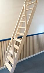 Dolle Arundel Wooden Space Saver Staircase Kit (Loft Stair) - Suitable for a Floor Height up to 2980mm