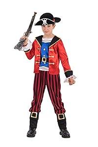 Carnival Toys-Disfraz Corsaro para bebé para niños, multicolor, 122-128cm, 68751