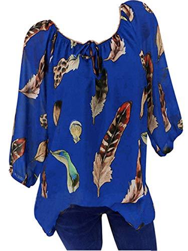 GJKK Bluse Damen Herbst Shirt Reizvoller Übergröße Half Ärmel Federdruck V-Ausschnitt Sweatshirt Langarmshirt Tops Oberteil Hemd T-Shirts ()