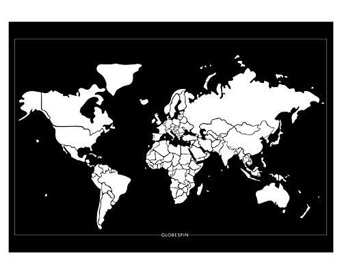 Preisvergleich Produktbild Globespin Weltkarte zum Rubbeln (Scratch Off map) - Minimalistisches,  Hochwertiges Design - Extra Großes Reiseposter 84 x 59 cm