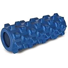 "Rumble Roller 12"" Compact Deep Tissue Massage Roller - Textured Muscle Foam Roller Manipulates Soft Tissue Like A Massage Therapist - Firm, Blue"