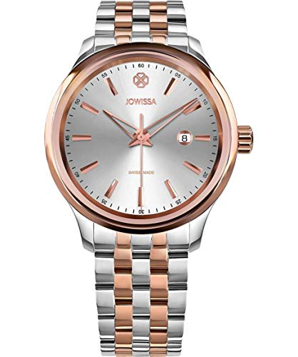 Jowissa Tiro Swiss J4.229.L - Reloj de Pulsera para Hombre, Color Plateado y Rosa