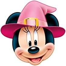 Disney Halloween Minnie Mouse Witch - Card Face Mask - Licensed Product [Toy]