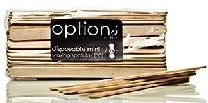 Ruche de beauté 50 X Mini en bois épilation cire spatules jetables cire bâtons abaisse-langue CODE : HOB5544