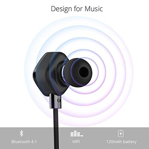 UMIDIGI Bluetooth Kopfhörer, wireless Kopfhörer Stereo In Ear Ohrhörer mit Magnet, Bluetooth 4.1, 8-Stunden-Spielzeit, IPX6 Spritzwasserfest, Kabellose Headset mit Mikrofon für iPhone iPad Samsung Galaxy Note und Android Handy - 4