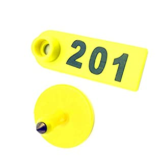 Adhere To Fly Plastic Livestock Ear Tag for Goat Sheep Pig Three Colors Number 1 to 500 (101-200, Yellow) 7