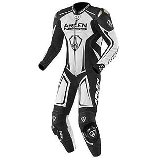 Arlen Ness Alcarras 1-Teiler Motorrad Lederkombi 50 Weiß/Schwarz