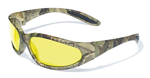 Global Vision Eyewear Forest 1Serie Schutzbrille mit matt camo Muster Rahmen und Gelb Tint Objektive