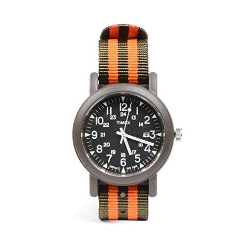 Timex Camper Orologio da Polso da Uomo a Quartz con Cinturino Nato Militare in Tessuto Verde e Arancione