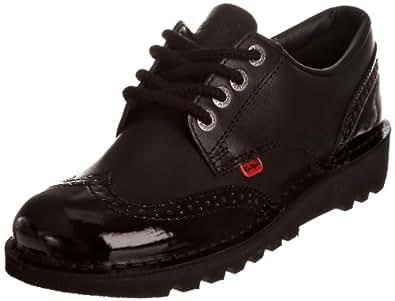 Kickers Women's Kick Lo Brogue Flats - Black, 3 UK