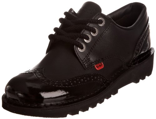 Kickers Women's Kick Lo Brogue Flats - Black, 5 UK