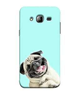 Samken Cute Pug Designer Printed Mobile Phone Back Cover Case For Samsung Galaxy J3 2015