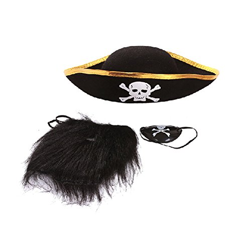 Teufel Pirat Vampir Dämon für Halloween Party Weihnachten Kinder Kids, Pirate Costume Set (Pirate Fancy Dress Womens)