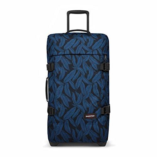 Eastpak Tranverz M Valise, 67 cm, 78 L, Bleu (Leaves Blue)