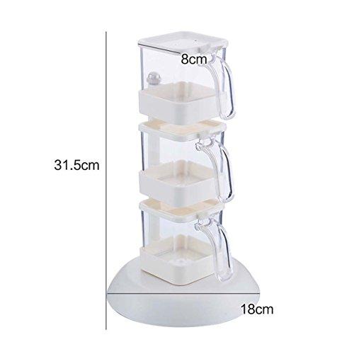 Anzügen Mens Weißen (GAYY Würzflasche vertikale Gewürzboxen, Küche Gewürzdosen, kann rotierende Gewürzboxen, Küche liefert vier)