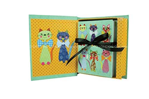Santoro Katzen mit bowties Geschenkbox mit Aufstellkarten (Verschiedene Bowties)