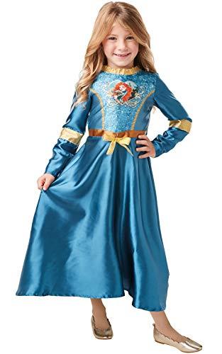 Kind Kostüm Merida - Rubie's Offizielles Disney Prinzessin Pailletten Merida Klassisches Kostüm für Kinder, Größe S, Alter 7-8 Jahre, Höhe 128 cm