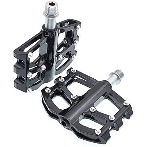 iParaAiluRy Montaña pedales de la bicicleta MTB - Magnesio Pedales Plataforma CNC Eje de acero de 9/16