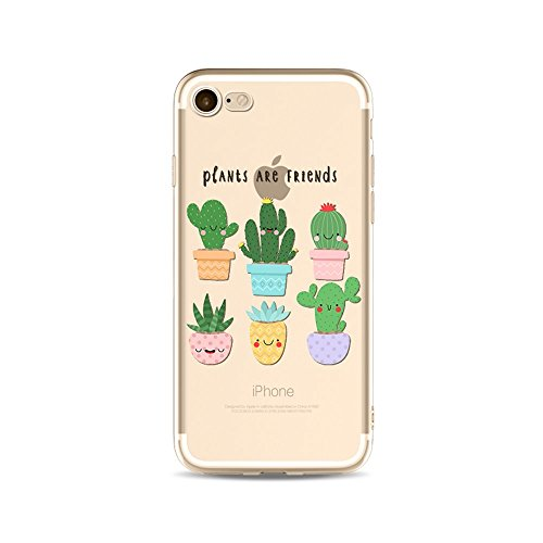 "CoqueiPhone 6S Plus Etui Housse,BoomTeck Coque Pour 5.5"" Apple iPhone 6S Pus/iPhone 6 Plus Silicone Souple Transparente Motif Clear Ultra Mince Anti Choc Anti-rayures Gel TPU Etui Protection Bumper C 04"