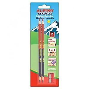 Alpino LE000018 – Blister 2 lápices y sacapuntas