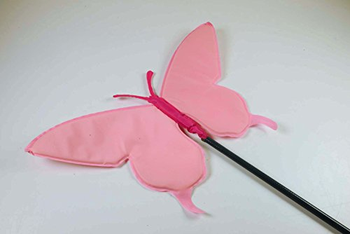 Carillon papillon Swing Rose 2 m, largeur x hauteur : 40 x 21 cm,/plastique tige télescopique, télescopique, pour le jardin