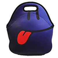 Tskybag Girls Boys Kids Lunch Bag Zipper Neoprene Thermal Insulated Water Resistant Cooler Carry Bag Tote Food Holder School Travel Picnic Box Container (Naughty)