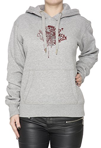 The Innocent Blood Donna Grigio Felpa Felpa Con Cappuccio Pullover Grey Women's Sweatshirt Pullover Hoodie