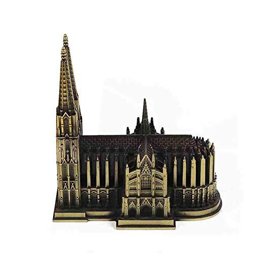 Reise architektonisches Modell, Metall architektonische Modell Köln Dom Skulptur Reise Souvenir Handwerk