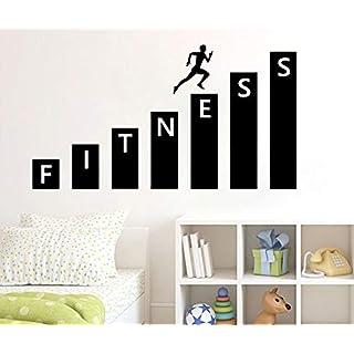 Fitness Gym Adesiv oder Vinyl Aufkleber Art Decor Schlafzimmer Design Wandbild Innendekoration Wohnzimmer Schlafzimmer Tapete Decals 109cmx58cm L