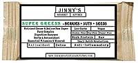 Jimmy's Gourmet Kitchen (Nutritional Green Bar)(Super Greens)(Berries + Nuts + Seeds)(Detox ANTIOXIDANT Anti-INFLAMMATORY)(Gluten Free Sugar Free Vegan)(50g Bar Pack of 6)