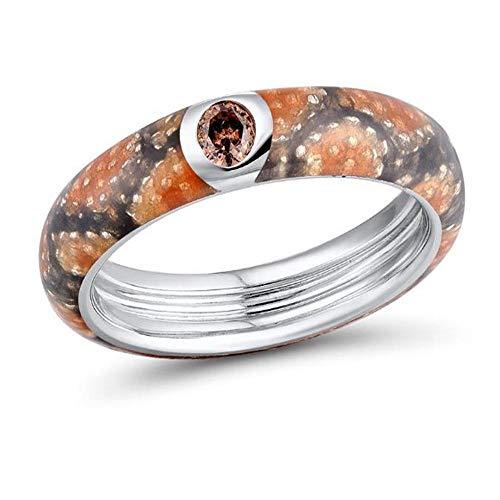XCWXM Ringe Ringe Für Silberne Ringe Für Frauen 925 Sterlingsilber Neuester Funkelnder Schellt Himmel-Blau-Art- Und Weiseschmucksachen 7