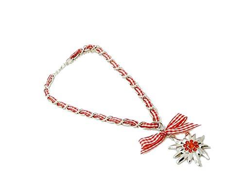 iss Strass Vintage Tracht Charivari Dirndl Wiesn Karo rot SR9 (Vintage Trachten Schmuck Halskette)