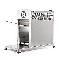 Beefer Original One Pro | Die neue Profi-Version des 800-Grad Premium-Oberhitze-Gasgrill für das perfekte Steak , Silber