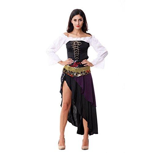 Captain Kostüm Sexy Piraten - VENI MASEE Sexy Ladies Captains Schatz Karibik Piraten-Halloween-Kostüm