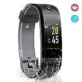 YoYoFit Fitness Activity Tracker socken, IP68 Wasserdicht GPS Schrittzähler Uhr mit Pulsmesser Schlafmonitor Kalorienzähler Smart Watch Kompatibel mit IOS Android für Kinder Damen Herren Geschenk
