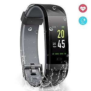 YoYoFit Fitness Activity Tracker Armband, IP68 Wasserdicht GPS Schrittzähler Uhr mit Pulsmesser Schlafmonitor Kalorienzähler Smart Watch Kompatibel mit IOS Android für Kinder Damen Herren Geschenk