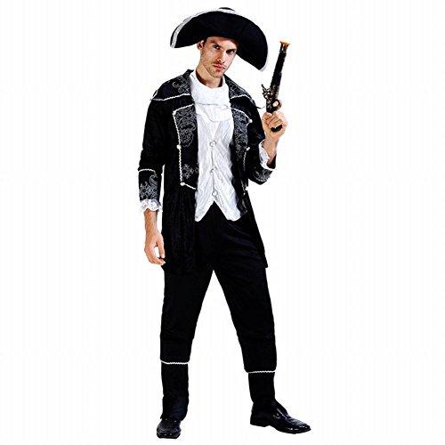 WEII Halloween Cosplay Piraten Kostüm Cosplay Party Kostüm Halloween Show Kostüm,Männliches Gold,Einheitsgröße (Piraten Männliche Kostüm)