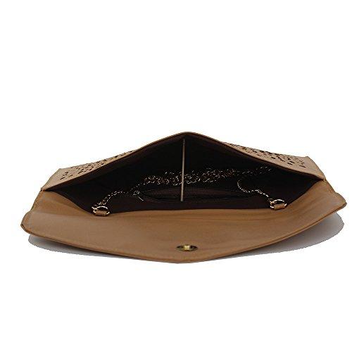 Imentha Sacchetto di Crossbody del messaggero del Tote della spalla borsa signora Satchel delle nuove donne di modo Clutch Donna Pochette Donna (nero) dark khaki
