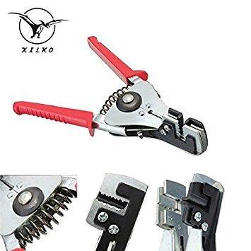 8: xilko Zange Kabel Abisolierzange-Crimper Austauschbare Cutter Head 4Gear Automatische Abmanteln Zange Handwerkzeuge Zangen (Multi-cutter Head)