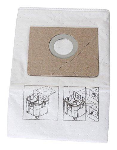 FEIN 31345062010 Vliesfiltersack für Dustex 25L, 5 Stück, Beige, Weiß
