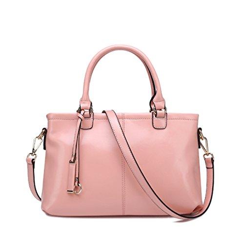 DHFUD Tragbare Schultertasche Für Damen Simple Fashion Pink