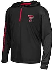 """Texas Tech Red Raiders Youth NCAA """"Sleet"""" 1/4 Zip Pullover Hooded WindShirt Chemise"""