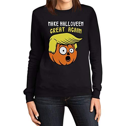 Make Halloween Great Again Kürbis Gesicht Sweater Kostüm Frauen Sweatshirt X-Large Schwarz