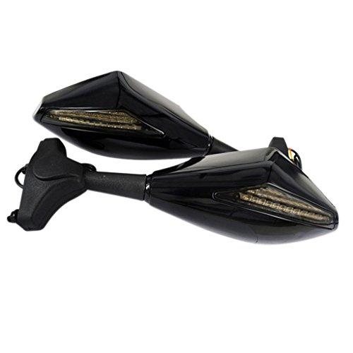Sharplace MOTO Rétroviseurs Avec Clignotants LED Mirroirs Latéraux Accessoire Moto - 171 H7