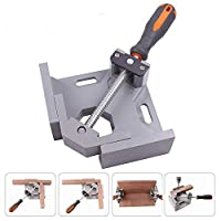 Nrpfell Aluminum Single Handle 90 Degree Right Angle Clamp Angle Clamp Woodworking Frame Clip Right Angle Folder Tool