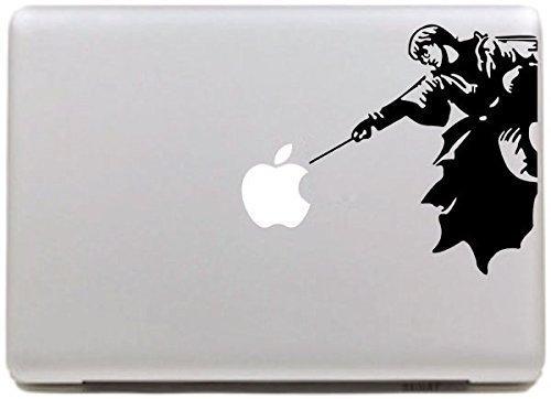 Vati Hojas desprendibles Harry Potter Etiqueta del Vinilo de la Etiqueta engomada de la Piel de Arte Negro para Apple… 4