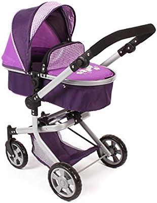 Bayer Chic 200059528–Carrito para muñecas Mika, Purple Checker