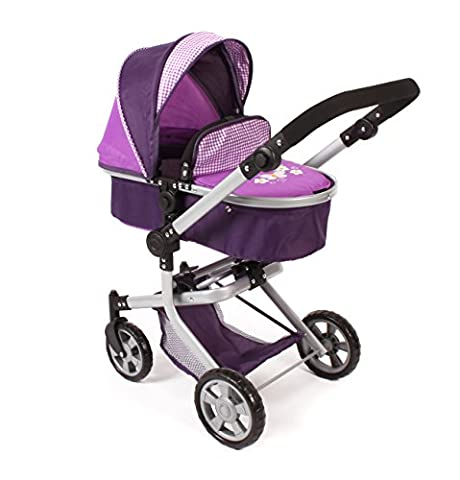 Bayer Chic 2000 595 28 - Kombi-Puppenwagen Mika, Purple Checker